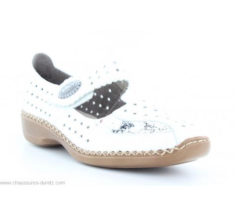 Chaussures femme Rieker FUSION 413J3 80 Blanc