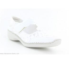 Chaussures femme Rieker FUSIL Blanc 41379-80