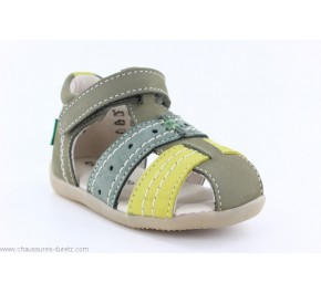 Sandales garçon Kickers BIGBAZAR-2 Kaki