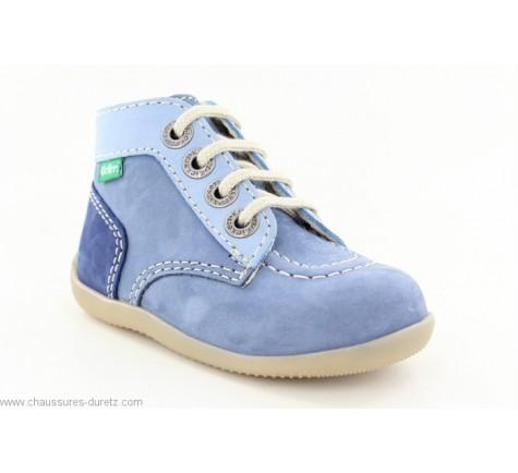 Kickers BONBON Bleu Tricolore