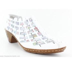 Chaussures femme Rieker YINO Blanc 46778-80