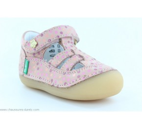 Chaussures fille Kickers SUSHY Rose Pois