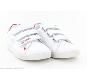 Baskets fille Palladium VICKING 04 Velcro Blanc