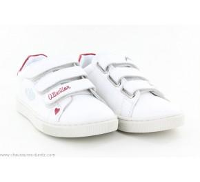 Baskets fille Palladium VICKING 04 Velcro Blanc