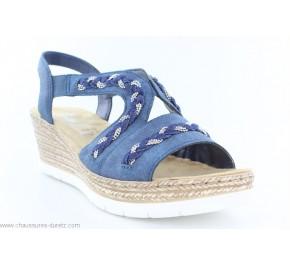 Sandales femme Rieker FORME Bleu 619D8-14