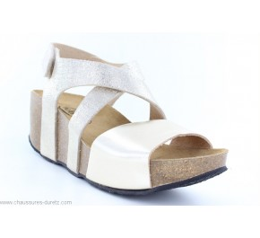 Sandales femme PLAKTON SO INCA Beige / Or