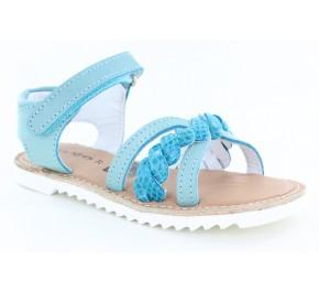 Sandales filles Kickers SHARKKY Bleu Turquoise