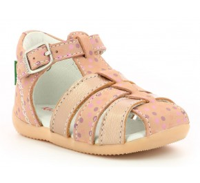 Sandales fille Kickers BIGFLY Rose Pois