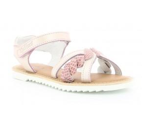 Sandales filles Kickers SHARKKY Beige Rosé