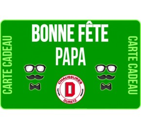 Carte Cadeau 20 € Fête des Pères Duretz