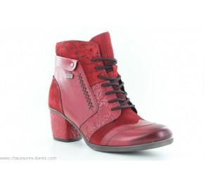 Bottines femme Remonte RAOUL Rouge D5470-35