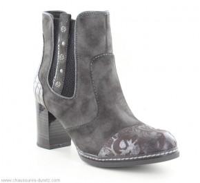 Boots femme Mustang GALON Gris