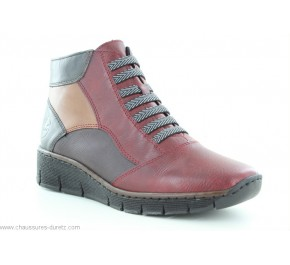 Boots femme Rieker GENIL Bordeaux 53774-35