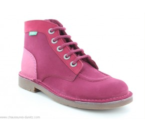 Bottines femme Kickers KICK COLOR Rose Tricolore