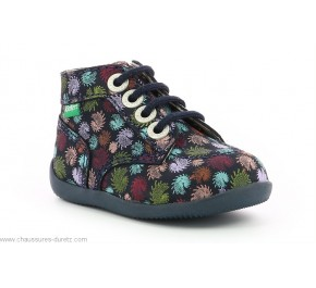 Bottines filles Kickers BONZIP-2 Marine Firework
