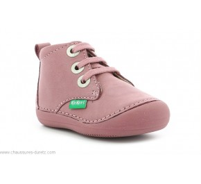 Bottines fille Kickers SONIZA Rose clair