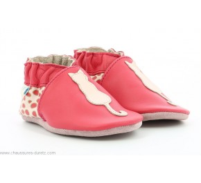 Chaussons fille Robeez SITY Fuschia