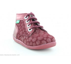 Bottines filles Kickers BONZIP-2 Bordeaux Firework