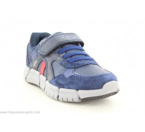 Baskets garçon Géox FLEXYPER LOW Navy / Red