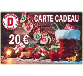 Carte Cadeau de Noël Homme 20 € Duretz
