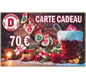 Carte Cadeau de Noël Homme 70 €