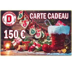 Carte Cadeau de Noël Homme 150 €