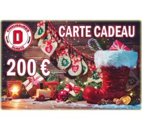 Carte Cadeau de Noël Homme 200 € Duretz