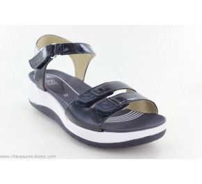 Sandales femme Ara ARME Navy / Blanc