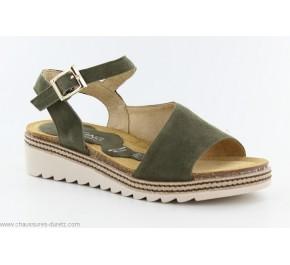 Sandales femme Dorking POM 8540 Kaki