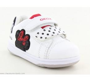 Baskets fille Géox GRIL Blanc Disney