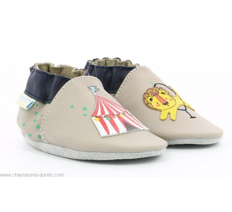 Robeez LION CIRCUS Gris / Taupe