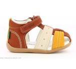Sandales Kickers BIGBAZAR-2 Camel / Jaune / Blanc