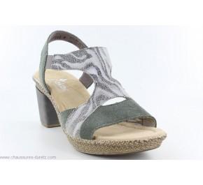 Sandales femme Rieker HOD 66583-54 Kaki