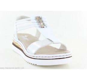 Sandales femme Rieker HIER 679L1-91 Blanc