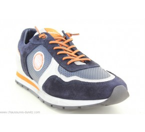 Baskets homme Redskins STITCH Marine/ Blanc /Orange