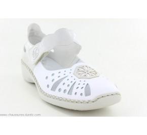 Chaussures femme Rieker HONE 41368-80 Blanc