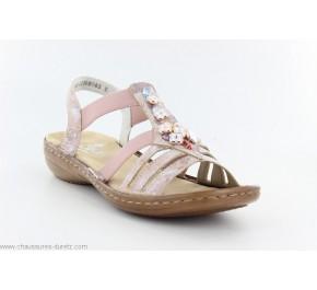 Sandales femme Rieker HEUR 60855-31 Rose