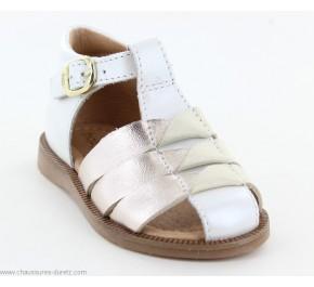 Sandales fille Babybotte TANINA Blanc Doré