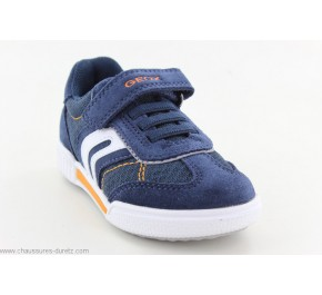 Baskets garçons Geox GUEU Navy / Orange