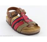 Sandales Plakton PENNY Marron / Rouge