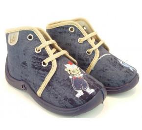 Pantoufles bébés Babybotte MAMOUT Marine / Pêcheur