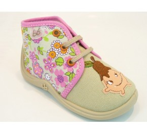 Pantoufles bébés Babybotte MAMOUT Beige / Poire