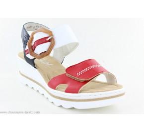 Sandales femme Rieker HIV 67476-33 Blanc / Rouge