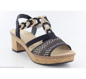 Sandales femme Rieker HOIR Noir / Beige
