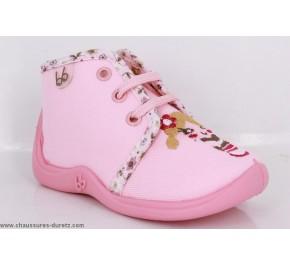 Pantoufles bébés Babybotte MAMOUT Rose / Girl