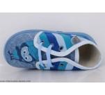 Pantoufles Babybotte MAMOUT Bleu / Pingouin