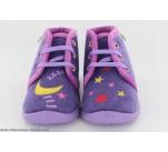 Pantoufles Babybotte MAMOUT Violet / Etoile