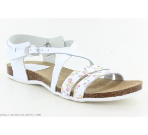 Sandales femme Kickers ANATOMIUM Blanc Fleuri