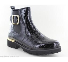Boots femme Remonte RISC Noir Verni D8684-02