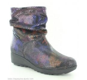 Boots femme Méphisto AGATHA Wine / Noir